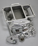 BM-3014P 90 DEGREE CHEVY V6 471 POLISHED INTAKE
