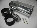 SC-9001 DUAL CARB SCOOP, FILTERS, POLISHED