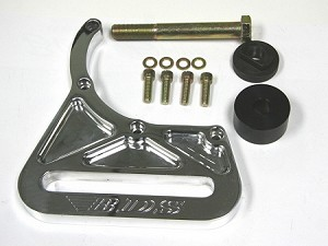 CHEVY BB BLOWER MOUNTED BILLET IDLER BRACKET KIT