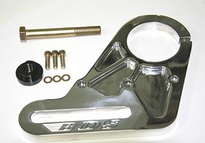 NEW SNOUT/FRONT COVER BILLET IDLER BRACKET KIT, POLISHED