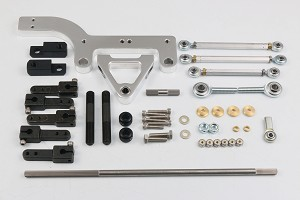 BILLET BASE/TOWER DUAL LINKAGE KIT, POLISHED